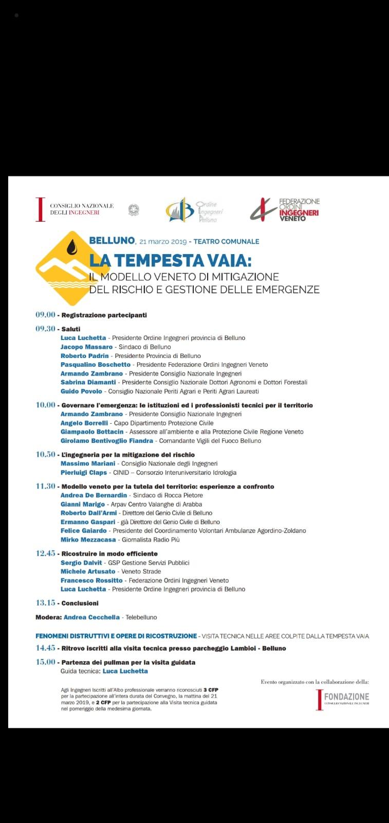 81e82745eb BELLUNO Partecipazione e attenzione al convegno organizzato giovedi al  Teatro Comunale di Belluno dal consiglio nazionale degli ingegneri, ...