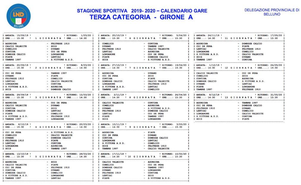 Calendario Terza Categoria.Ufficializzato Il Calendario Di Terza Categoria Radio Piu