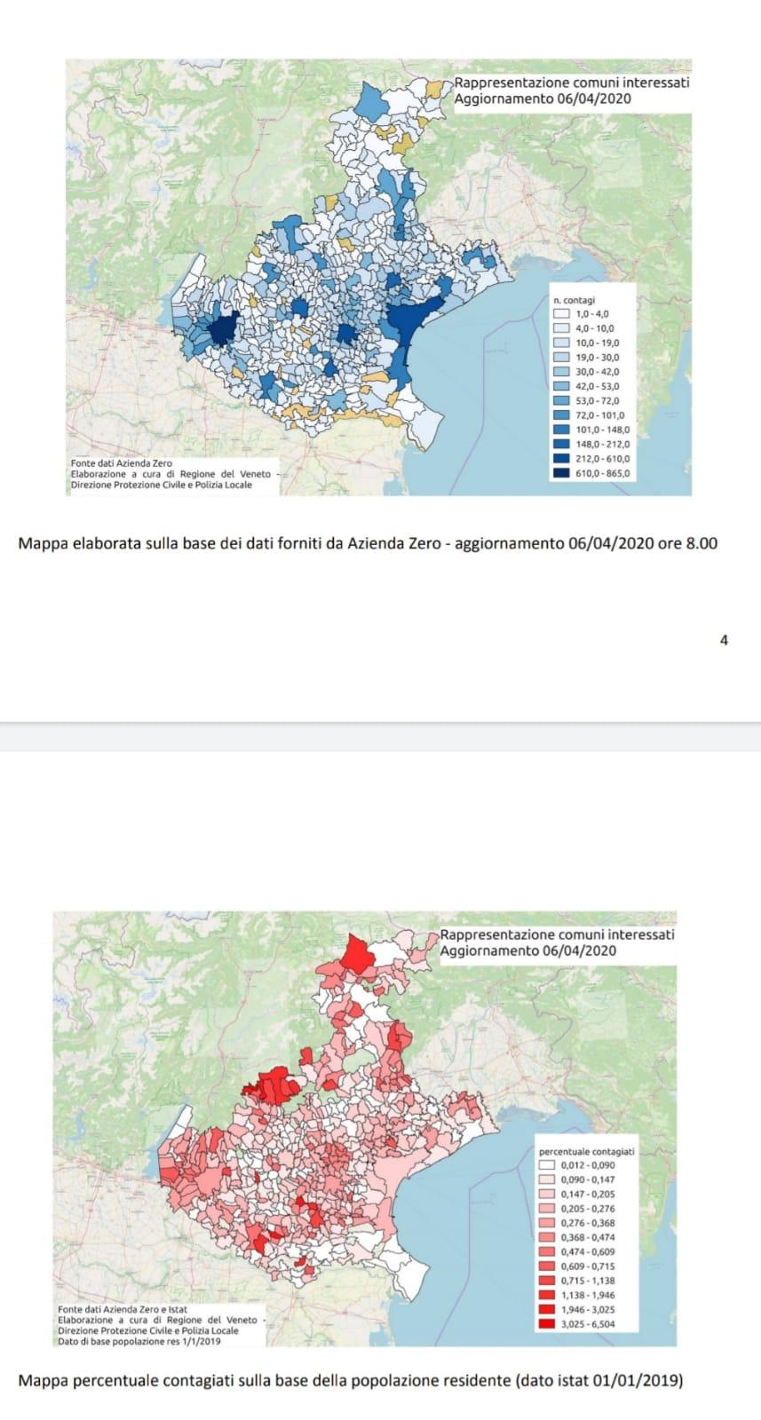 Cartina Veneto Comuni.La Mappa Dei Contagi In Veneto Aggiornata Al 6 Aprile Radio Piu