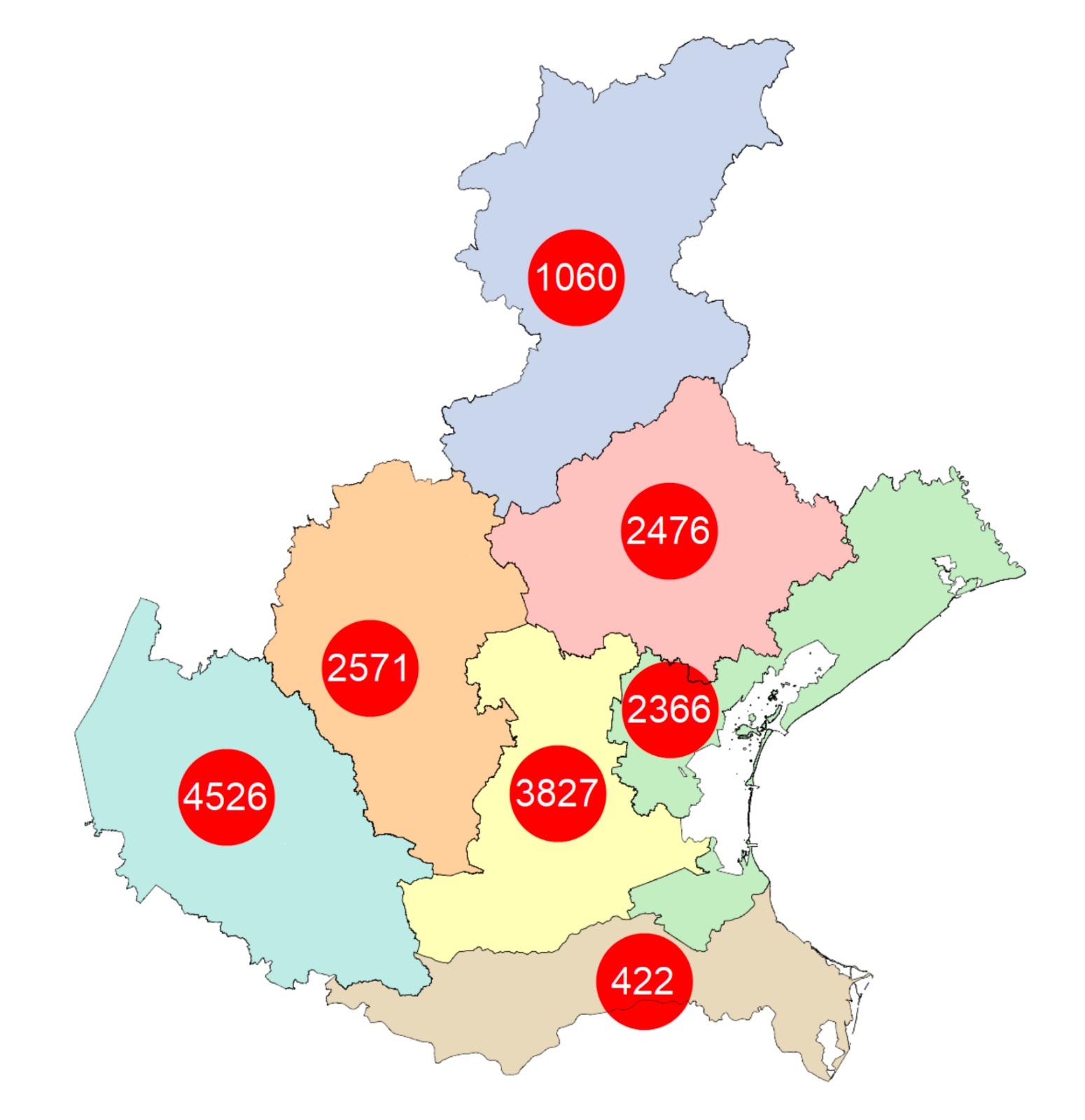 Cartina Veneto Comuni.Mappa Dei Contagi In Veneto Comune Per Comune Aggiornamento 27 Aprile Ore 8 Radio Piu